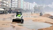 Una nueva tormenta en el litoral catalán